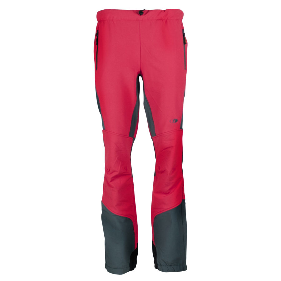 pantaloni trekking montagna Lavarello corallo e grigio