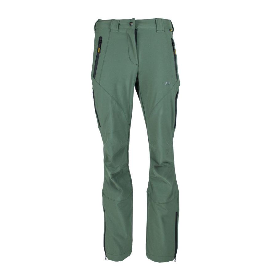 pantaloni trekking montagna Sherpa verde