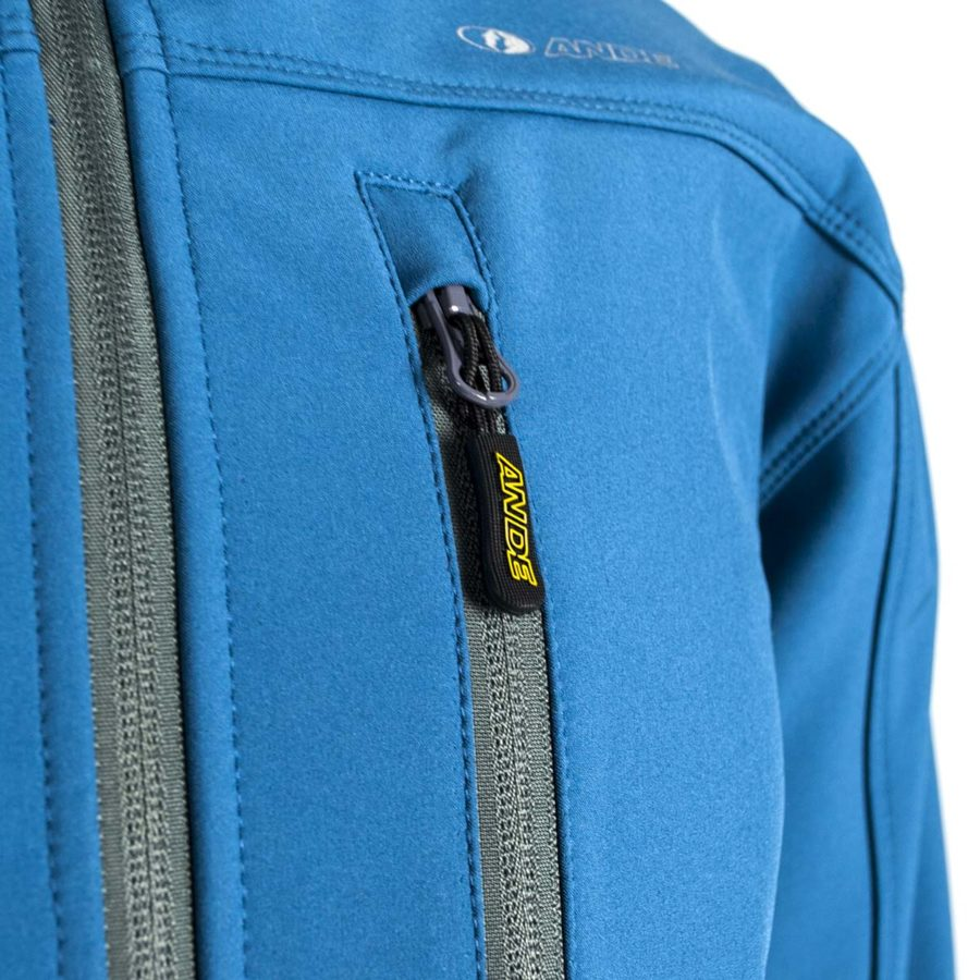 giacca softshell Contact uomo blu